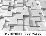 3d rendering. abstract white... | Shutterstock . vector #712991620