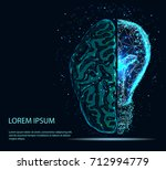 abstract image of a half of... | Shutterstock .eps vector #712994779
