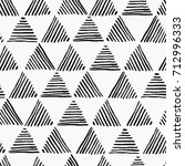 seamless hand drawn geometric... | Shutterstock .eps vector #712996333