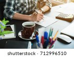 young entrepreneur  teenager... | Shutterstock . vector #712996510