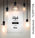 hanging lamps and quote at... | Shutterstock .eps vector #712997728