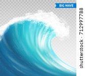 big sea or ocean wave with... | Shutterstock .eps vector #712997788