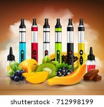 colorful vaping electronic... | Shutterstock .eps vector #712998199