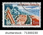 france   circa 1950s  a stamp... | Shutterstock . vector #71300230