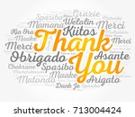 thank you word cloud in... | Shutterstock .eps vector #713004424