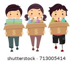 illustration of stickman kids... | Shutterstock .eps vector #713005414