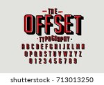 vector of retro bold font and...   Shutterstock .eps vector #713013250