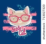 cute cat sketch vector... | Shutterstock .eps vector #713027320