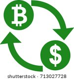 bitcoin to usd dollar crypto... | Shutterstock .eps vector #713027728
