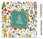 vector set of different colored ... | Shutterstock .eps vector #713029039