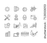 simple engineer icons set vector | Shutterstock .eps vector #713033053