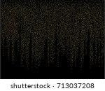 christmas sparkles  gold ... | Shutterstock .eps vector #713037208