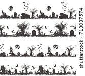 halloween magic collection ... | Shutterstock .eps vector #713037574