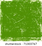 scratch green background | Shutterstock . vector #71303767