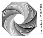 circular geometric motif.... | Shutterstock .eps vector #713039134