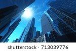 nice view of the skyscrapers ... | Shutterstock . vector #713039776