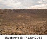 Meteor Crater In Arizona  Usa
