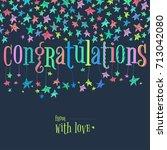 vector stars confeti garland... | Shutterstock .eps vector #713042080