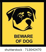 beware of dog sign  symbol ... | Shutterstock .eps vector #713042470