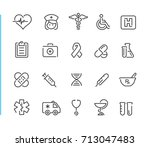 medical icon set  | Shutterstock .eps vector #713047483