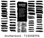 painted grunge stripes set.... | Shutterstock .eps vector #713048596