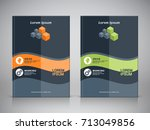 corporate design of brochure... | Shutterstock .eps vector #713049856
