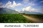 mountain scenery with a rural... | Shutterstock . vector #713050840