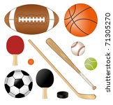 sport requisites | Shutterstock .eps vector #71305270
