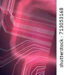 digital abstract colored lines... | Shutterstock . vector #713053168
