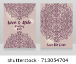 beautiful wedding cards with...   Shutterstock .eps vector #713054704