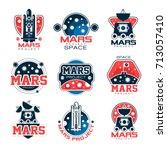 mars logo project  mars... | Shutterstock .eps vector #713057410