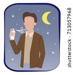 man in semi formal dress are... | Shutterstock .eps vector #713057968
