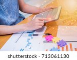 business on technology and... | Shutterstock . vector #713061130