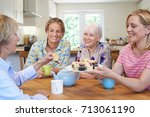 group of different aged female...   Shutterstock . vector #713061190