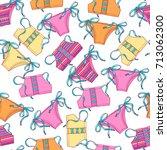 beautiful seamless pattern of... | Shutterstock .eps vector #713062300