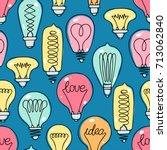 cute seamless pattern of... | Shutterstock .eps vector #713062840