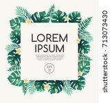 invitation card template with... | Shutterstock .eps vector #713073430
