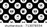dog breed french bulldog polka... | Shutterstock .eps vector #713078554