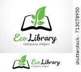 eco library logo template... | Shutterstock .eps vector #713078950