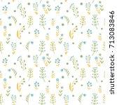 beautiful flowers set  vector... | Shutterstock .eps vector #713083846