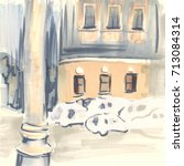 urban sketch | Shutterstock . vector #713084314