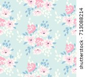 cute floral pattern in shabby... | Shutterstock .eps vector #713088214