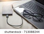 journalist or traveler or... | Shutterstock . vector #713088244
