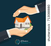 the concept of safe houses  two ... | Shutterstock .eps vector #713088880