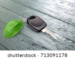 green car key.