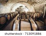 Barrels Of Wine In A Wine...