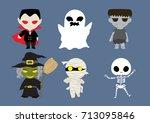 Halloween Cute Cartoon Set ...