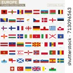 national flag of european... | Shutterstock .eps vector #713096563