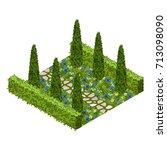 garden vector asset with...   Shutterstock .eps vector #713098090