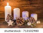 advent background decoration... | Shutterstock . vector #713102980